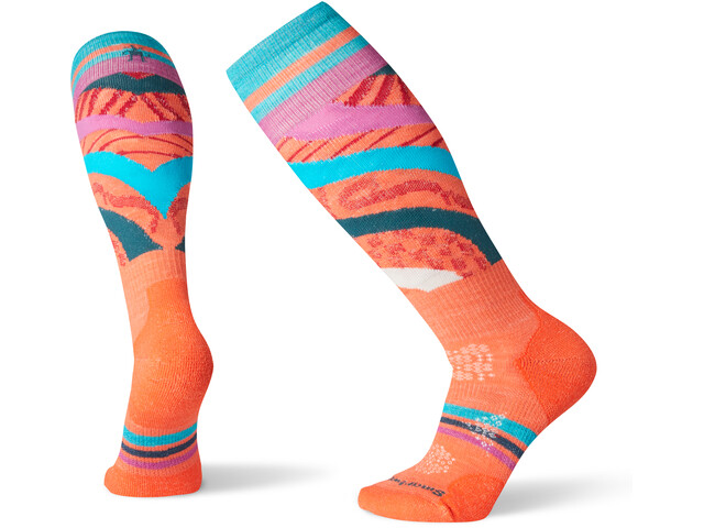 Smartwool PhD Ski Light Pattern Socken Damen habanero